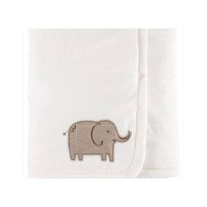 Carters Embroidered Plush Elephant Blanket